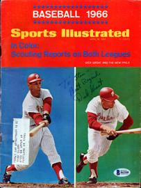 "Dick Groat Autographed Sports Illustrated Magazine Philadelphia Phillies ""To Stan"" Beckett BAS #B63508"