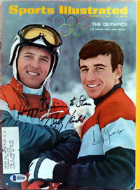 "Billy Kidd & Jimmy Huega Autographed Sports Illustrated Magazine Winter Olympics ""To Stan"" Beckett BAS #B63848"