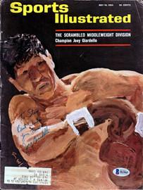 Joey Giardello Autographed Sports Illustrated Magazine Beckett BAS #B63865