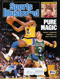 Dennis Johnson Autographed Sports Illustrated Magazine Boston Celtics Beckett BAS #B63882