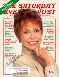 """Mary Tyler Moore Autographed Magazine """"To Stan"""" Beckett BAS #B61169"""