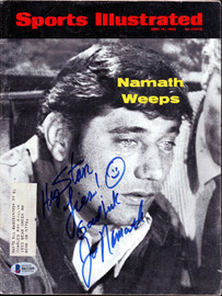 "Joe Namath Autographed Sports Illustrated Magazine New York Jets ""To Stan"" Beckett BAS #B61209"
