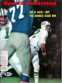 "Joe Namath Autographed Sports Illustrated Magazine New York Jets ""To Stan"" Beckett BAS #B61211"