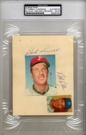 "Dick ""Turk"" Farrell & Joe Morgan Autographed 4.5x6 Album Page PSA/DNA #83964294"