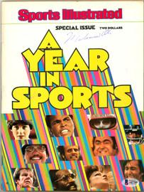 Muhammad Ali Autographed Sports Illustrated Magazine Vintage Beckett BAS #A07366