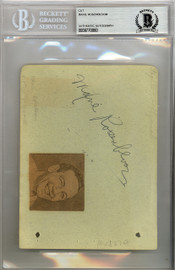 Maxie Rosenbloom Autographed 4.5x6 Album Page Beckett BAS #9770060