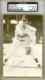 Glenn Cox Autographed 3.5x5.5 Postcard Kansas City A's PSA/DNA #83961867