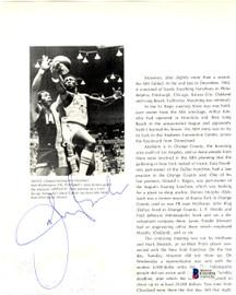 John Brisker Autographed 7.5x9 Magazine Page Photo Pittsburgh Condors Beckett BAS #C01929