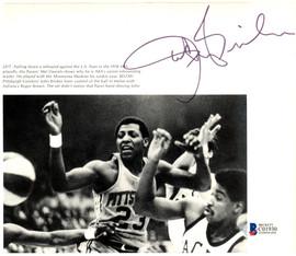 John Brisker Autographed 7.5x6.5 Magazine Page Photo Pittsburgh Condors Beckett BAS #C01930