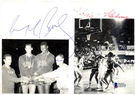 Mahdi Abdul-Rahman (Walt Hazzard) & Dave Bing Autographed 6x8 Magazine Page Photo Team USA Beckett BAS #C01938