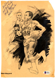 "Walt Hazzard Mahdi Abdul-Rahman Autographed 7.5x11 Magazine Page Photo Atlanta Hawks ""Best Wishes"" Beckett BAS #C01952"