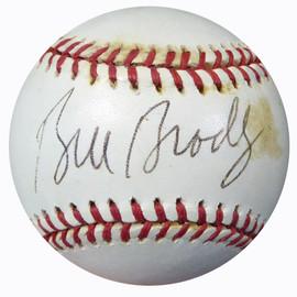 Bill Bradley Autographed Official 1994 World Series Baseball New York Knicks Beckett BAS #B62181