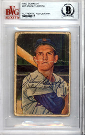 Johnny Groth Autographed 1952 Bowman Card #67 Detroit Tigers Beckett BAS #9888917