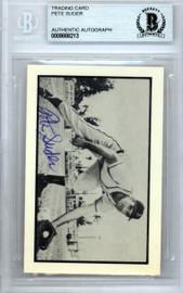 Pete Suder Autographed 1953 Bowman Reprint Card #8 Philadelphia A's Beckett BAS #9888213