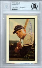 Joe Astroth Autographed 1953 Bowman Reprint Card #82 Philadelphia A's Beckett BAS #9888221
