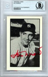Irv Noren Autographed 1953 Bowman Reprint Card #45 New York Yankees Beckett BAS #9888229