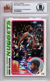 Bobby Wilkerson Autographed 1978 Topps Rookie Card #41 Denver Nuggets Beckett BAS #10009038