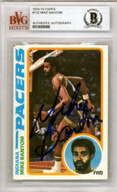 Mike Bantom Autographed 1978 Topps Card #123 Indiana Pacers Beckett BAS #10009088