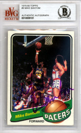 Mike Bantom Autographed 1979 Topps Card #9 Indiana Pacers Beckett BAS #10009101