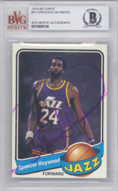 Spencer Haywood Autographed 1979 Topps Card #12 New Orleans Jazz Beckett BAS #10009104