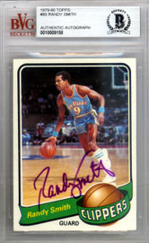 Randy Smith Autographed 1979 Topps Card #85 San Diego Clippers Beckett BAS #10009158