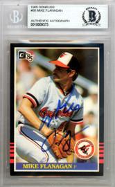 Mike Flanagan Autographed 1985 Donruss Card #88 Baltimore Orioles Beckett BAS #10009373