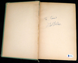 """Bob Feller Autographed Book Cleveland Indians """"To Tamie"""" Beckett BAS #C24263"""