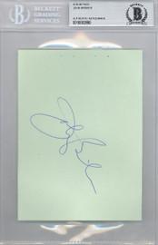 John Brisker Autographed 4.5x6 Album Page Seattle Super Sonics Beckett BAS #10002890