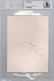 John Brisker Autographed 4.5x6 Album Page Seattle Super Sonics Beckett BAS #10002889