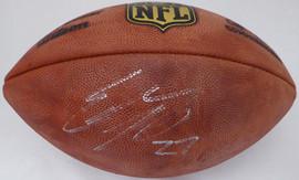 Eddie Lacy Autographed NFL Leather Football Seattle Seahawks MCS Holo #77767