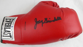 Joey Giardello Autographed Red Everlast Boxing Glove Beckett BAS #C71403