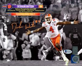 Deshaun Watson Autographed 8x10 Photo Clemson Tigers Beckett BAS Stock #126458