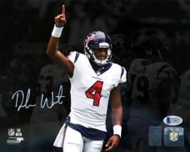 Deshaun Watson Autographed 8x10 Photo Houston Texans Beckett BAS Stock #126638