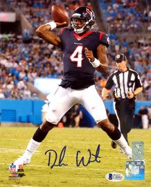 Deshaun Watson Autographed 8x10 Photo Houston Texans Beckett BAS Stock #126639