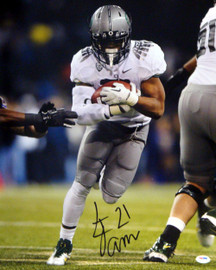 LaMichael James Autographed 16x20 Photo Oregon Ducks PSA/DNA RookieGraph Stock #22767
