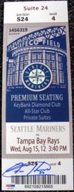 Felix Hernandez Autographed Mini Mega Ticket Seattle Mariners PSA/DNA Stock #33039