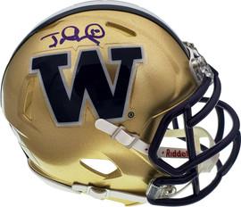 Jake Locker Autographed Washington Huskies Speed Mini Helmet PSA/DNA Stock #52354