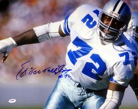 "Ed ""Too Tall"" Jones Autographed 16x20 Photo Dallas Cowboys PSA/DNA ITP Stock #53209"