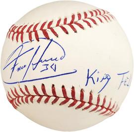 "Felix Hernandez Autographed Official MLB Baseball Seattle Mariners ""King Felix"" PSA/DNA Stock #56211"