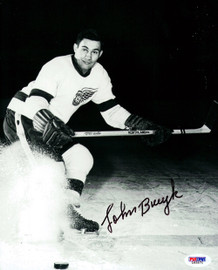 John Bucyk Autographed 8x10 Photo Boston Bruins PSA/DNA #L65571