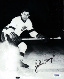 John Bucyk Autographed 8x10 Photo Boston Bruins PSA/DNA #L65575