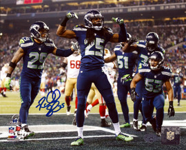 Richard Sherman Autographed 8x10 Photo Seattle Seahawks RS Holo Stock #71537