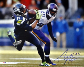 Percy Harvin Autographed 16x20 Photo Seattle Seahawks PSA/DNA Stock #71582
