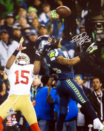 Richard Sherman Autographed 16x20 Photo Seattle Seahawks The Tip RS Holo Stock #72248