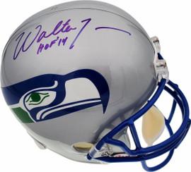 "Walter Jones Autographed Seattle Seahawks Throwback Full Size Helmet ""HOF '14"" MCS Holo Stock #72393"