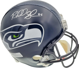 Richard Sherman Autographed Seattle Seahawks Super Bowl Full Size Helmet In Silver RS Holo Stock #72441