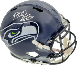 Richard Sherman Autographed Seattle Seahawks Authentic Super Bowl Speed Full Size Helmet In Silver RS Holo Stock #72442