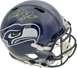 Richard Sherman Autographed Seattle Seahawks Authentic Super Bowl Speed Full Size Helmet In Green RS Holo Stock #72443
