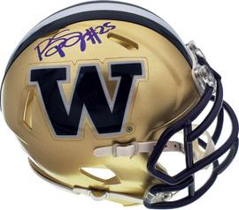 Bishop Sankey Autographed Washington Huskies Speed Mini Helmet MCS Holo Stock #73076