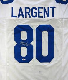 "Seattle Seahawks Steve Largent Autographed White Jersey ""HOF 95"" PSA/DNA Stock #77716"